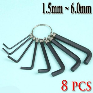 L Wrench / 8 Pcs