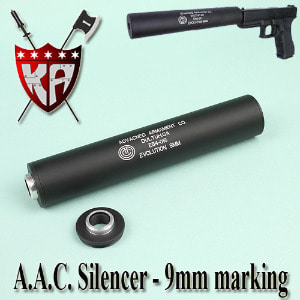 A.A.C. Silencer - 9mm Marking